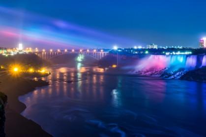 Niagara Falls During Evening Lights